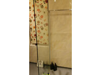Toughened safety glass shower screen