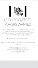 Players needed U13s 18-19 season school year 8 sept 2018