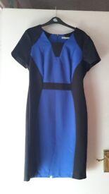 Blue & black panel dress size 12