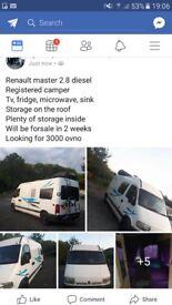 Renault master registered camper £3000