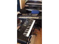 Roland BK-5 (BK5) Backing Keyboard.(New).+Yamaha soft case.