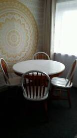 Wood Dinner Table & 4 Chairs for Sale