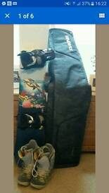Womans complete snowboard kit