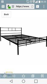 Double Bed (black metal)
