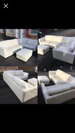 Stunning SISI ITALIA Corner Sofa & footstool delivery can be arranged