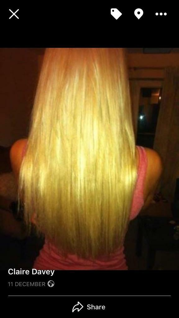 Professional fitted hair extensions-