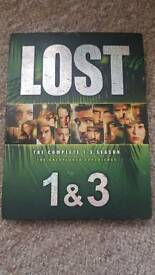 DVDS lost series 1-3 season