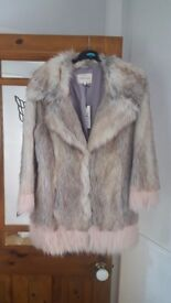 Faux fur size 16 River Island jacket