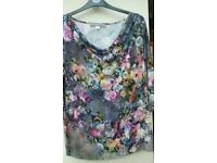 Ladies flowery top