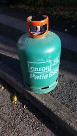 Calor gas bottle. Green. Patio gas bottle