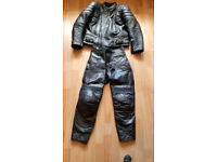 Geniune Leather Jacket and Leather Trousers, Boots and Full Face Helmet