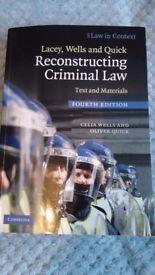 Reconstructing Criminal Law Text and Materials