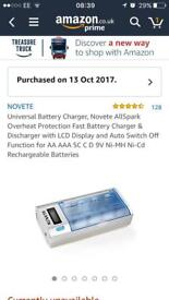 Rechargeable batteries with novette charger