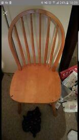 4x farmhouse style chairs