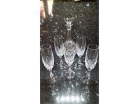 Nachtmann Tiffany Crystal Champagne Flutes x5 & Decanter