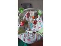 Fisher price woodland vibrating baby bouncy chair