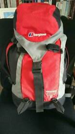 Berghaus red and black rucksack