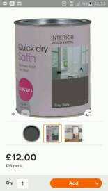B&q grey quick dry satin