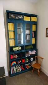 Vintage style shelving unit/display cabinet