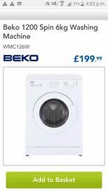 Beko washing machine new ono