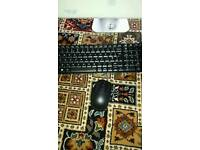 Logitech mk220 wireless mouse and keyboard with box
