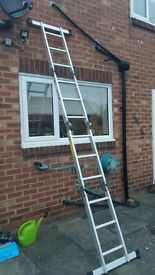 Multi purpose aluminium ladder. Hardly used. Collection only Chilton Durham