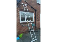 Multi purpose aluminium ladder. In good condition. Hardly used. Collection only Chilton Durham