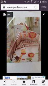 Next safari & friends nursery set #excellent condition# new