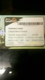 SOLD.....Paloma Faith Delamere Ticket