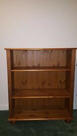Small pine wood bookcase