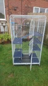 hamster / rat ect large cage on wheels good condition