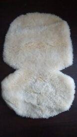 Universal sheepskin pushchair liner