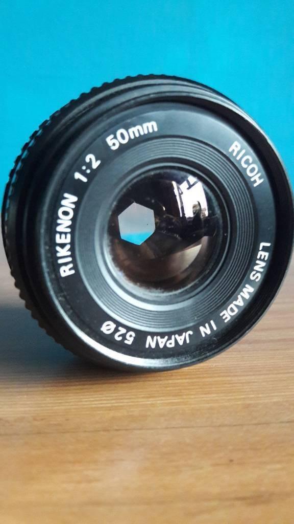 Ricoh camera lens