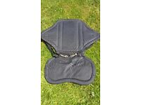 Kayak seat with back pack