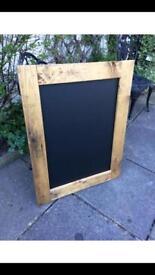 Rustic wooden chalkboard cottage Menu kitchen chalkboard menu