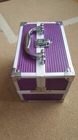 Purple Aluminium Vanity Case