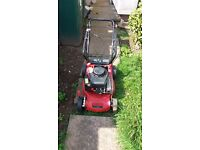 Sovereign 180cc petrol lawnmower only used twice from new