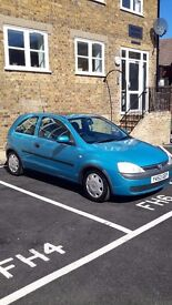 Vauxhall corsa 1.2 16v 3dr (Blue) for sale, excellent first car or run around.