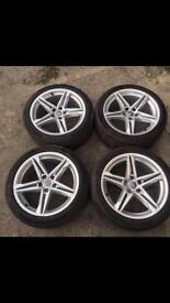 Genuine Audi alloys and tyres