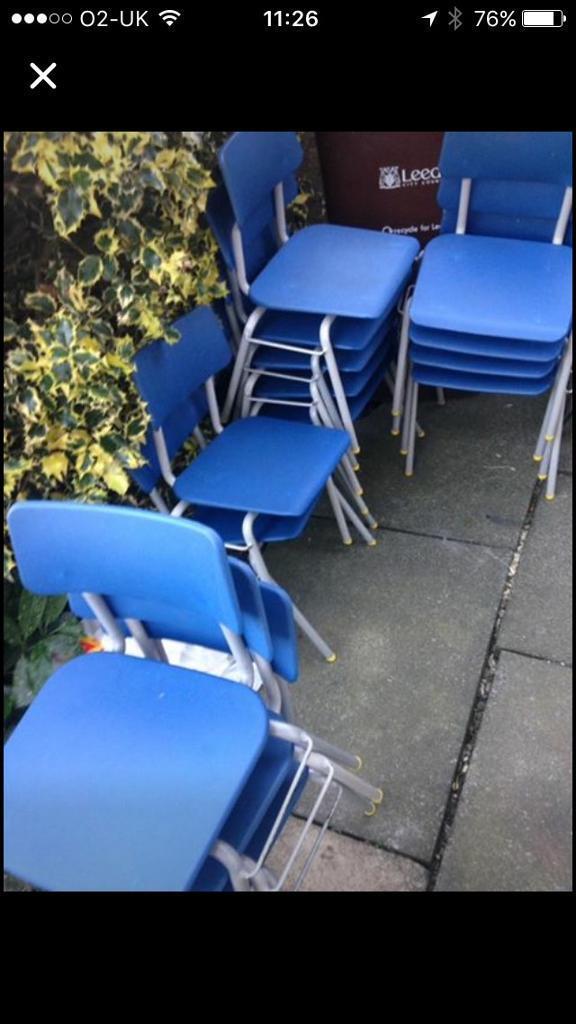 Ex school chairs x ten age 4-8