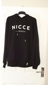 NICCE London Unisex Black Hoodie - Large