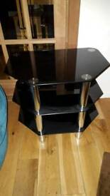 Glass and mirror tv stand