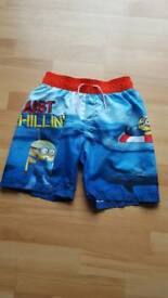 Minions swimming trunks age 10-11