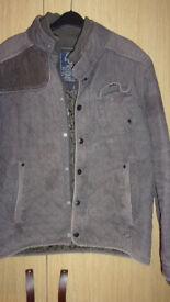 Men's Jacket Coat Gray Padded Easy Premium Clothing Size XL