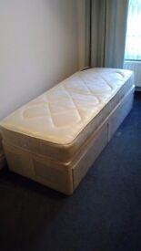 Single divan bed + mattress