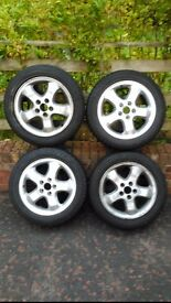16 inch Vauxhall Saab alloy wheels and Dunlop Winter Tyres