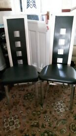 6 dining chairs black and white
