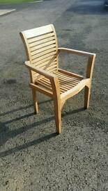 Teak stacking chairs. black friday special