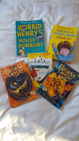 Boys Books x 5 including Horrid Henry, Beast Quest and Football Academy