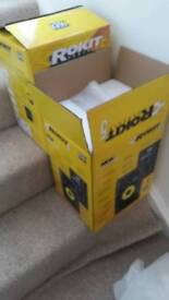 Krk rokit 5 g3 studio monitors pair. New but open box